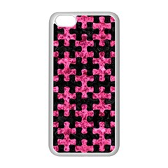 Puzzle1 Black Marble & Pink Marble Apple Iphone 5c Seamless Case (white)