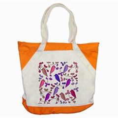 Flowers And Birds Pink Accent Tote Bag by Valentinaart