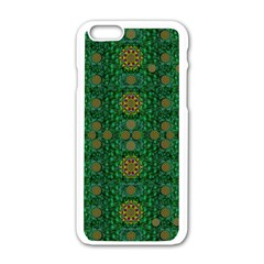 Magic Peacock Night Apple Iphone 6/6s White Enamel Case by pepitasart