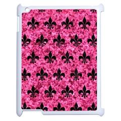 Royal1 Black Marble & Pink Marble Apple Ipad 2 Case (white) by trendistuff