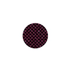 Scales1 Black Marble & Pink Marble 1  Mini Magnet by trendistuff