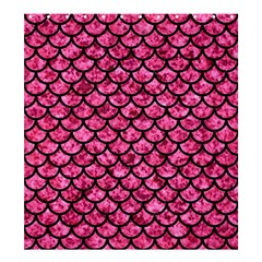 Scales1 Black Marble & Pink Marble (r) Shower Curtain 66  X 72  (large) by trendistuff