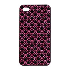 Scales2 Black Marble & Pink Marble Apple Iphone 4/4s Seamless Case (black) by trendistuff