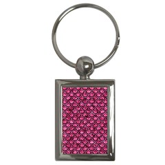 Scales2 Black Marble & Pink Marble (r) Key Chain (rectangle) by trendistuff