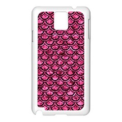 Scales2 Black Marble & Pink Marble (r) Samsung Galaxy Note 3 N9005 Case (white)