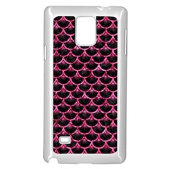 Scales3 Black Marble & Pink Marble Samsung Galaxy Note 4 Case (white) by trendistuff