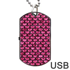 Scales3 Black Marble & Pink Marble (r) Dog Tag Usb Flash (two Sides) by trendistuff