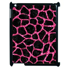 Skin1 Black Marble & Pink Marble (r) Apple Ipad 2 Case (black) by trendistuff