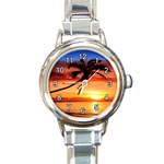 TROPICAL SUNSET ROUND ITALIAN CHARM WATCH