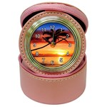 TROPICAL SUNSET JEWELRY CASE CLOCK (PINK)