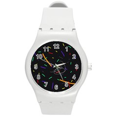 Colorful Beauty Round Plastic Sport Watch (m) by Moma