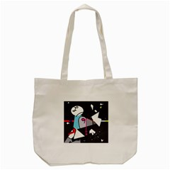 Abstract Bird Tote Bag (cream) by Moma