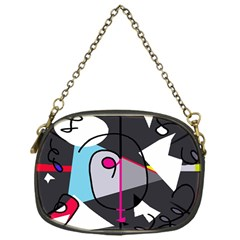 Abstract Bird Chain Purses (one Side)  by Moma