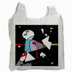 Abstract Bird Recycle Bag (one Side) by Moma