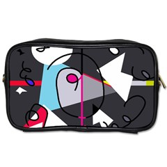 Abstract Bird Toiletries Bags 2 Side by Moma
