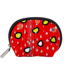 Rainy Day   Red Accessory Pouches (small)  by Moma
