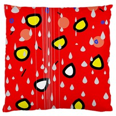 Rainy Day   Red Standard Flano Cushion Case (two Sides) by Moma