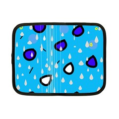 Rainy Day   Blue Netbook Case (small)  by Moma