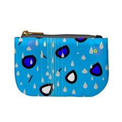 Rainy Day   Blue Mini Coin Purses by Moma