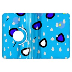 Rainy day - blue Kindle Fire HDX Flip 360 Case by Moma