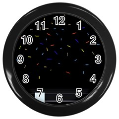 Night Wall Clocks (black) by Moma