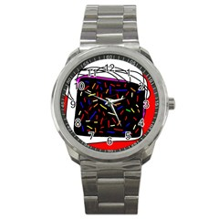Color Tv Sport Metal Watch by Moma