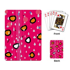 Rainy Day   Pink Playing Card by Moma
