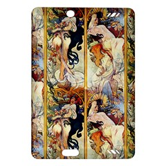 Alfons Mucha 1895 The Four Seasons Amazon Kindle Fire HD (2013) Hardshell Case by EndlessVintage