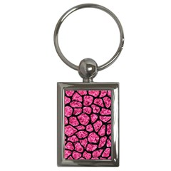 Skin1 Black Marble & Pink Marble Key Chain (rectangle) by trendistuff