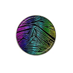 Abstract Background Rainbow Metal Hat Clip Ball Marker (4 pack) by Zeze