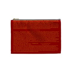 Writing Grace Cosmetic Bag (medium)  by MRTACPANS
