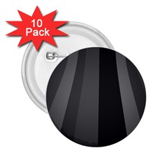 Black Minimalistic Gray Stripes 2.25  Buttons (10 pack)  by AnjaniArt