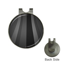 Black Minimalistic Gray Stripes Hat Clips With Golf Markers by AnjaniArt
