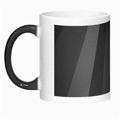 Black Minimalistic Gray Stripes Morph Mugs by AnjaniArt
