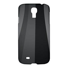Black Minimalistic Gray Stripes Samsung Galaxy S4 I9500/i9505 Hardshell Case by AnjaniArt