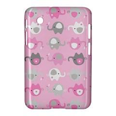 Animals Elephant Pink Cute Samsung Galaxy Tab 2 (7 ) P3100 Hardshell Case  by AnjaniArt