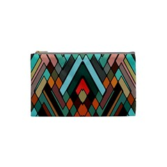 Abstract Mosaic Color Box Cosmetic Bag (small)  by AnjaniArt