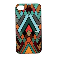 Abstract Mosaic Color Box Apple Iphone 4/4s Hardshell Case With Stand by AnjaniArt