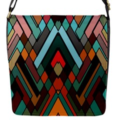 Abstract Mosaic Color Box Flap Messenger Bag (s) by AnjaniArt