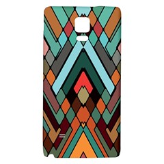 Abstract Mosaic Color Box Galaxy Note 4 Back Case by AnjaniArt