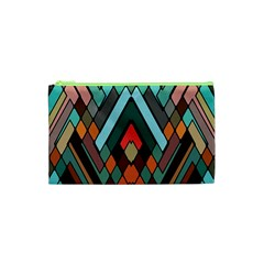 Abstract Mosaic Color Box Cosmetic Bag (xs) by AnjaniArt