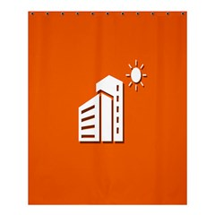 Building Orange Sun Copy Shower Curtain 60  X 72  (medium)  by AnjaniArt