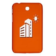 Building Orange Sun Copy Samsung Galaxy Tab 3 (7 ) P3200 Hardshell Case  by AnjaniArt