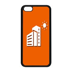 Building Orange Sun Copy Apple Iphone 5c Seamless Case (black) by AnjaniArt