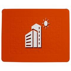 Building Orange Sun Copy Jigsaw Puzzle Photo Stand (rectangular) by AnjaniArt