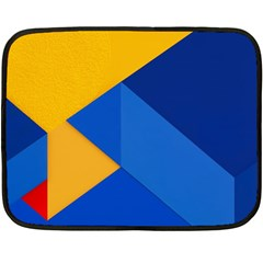 Box Yellow Blue Red Fleece Blanket (mini) by AnjaniArt