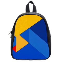 Box Yellow Blue Red School Bags (small)  by AnjaniArt