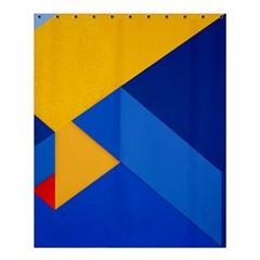Box Yellow Blue Red Shower Curtain 60  X 72  (medium)  by AnjaniArt