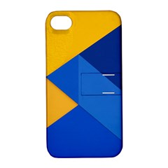Box Yellow Blue Red Apple Iphone 4/4s Hardshell Case With Stand by AnjaniArt
