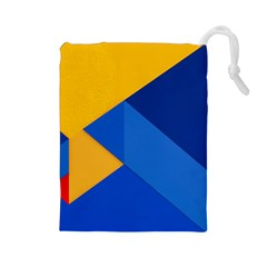 Box Yellow Blue Red Drawstring Pouches (large)